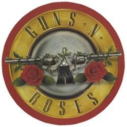 gun and roses
