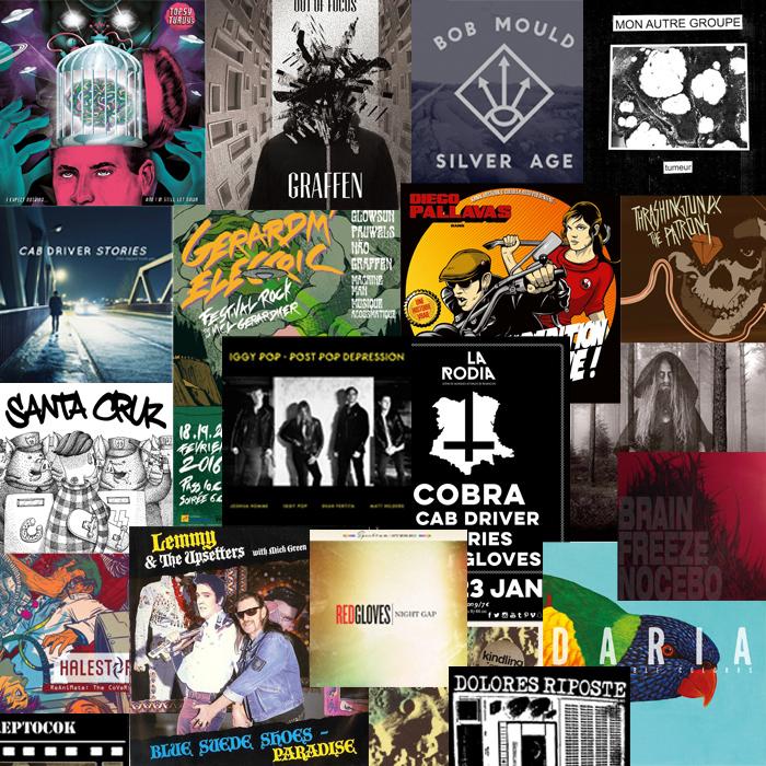 fresque pochettes rock Le Cri du Lynx émission radio 191